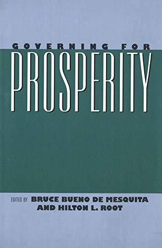 Governing for Prosperity 9780300080186