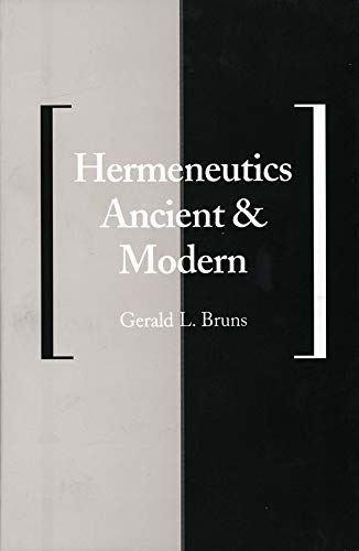 Hermeneutics Ancient and Modern 9780300063035