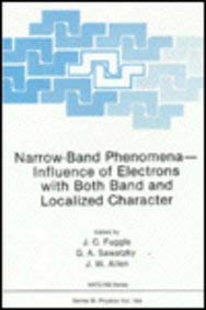 Narrow-Band Phenomena: Influence of Elections with Both Band and Localized Character 9780306430121