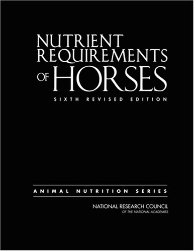 Nutrient Requirements of Horses 9780309102124