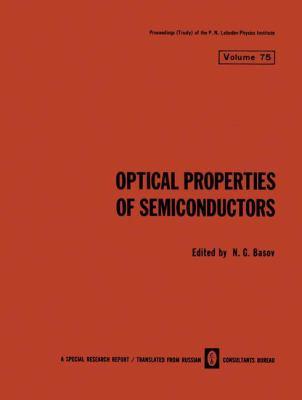 Optical Properties of Semiconductors 9780306109164