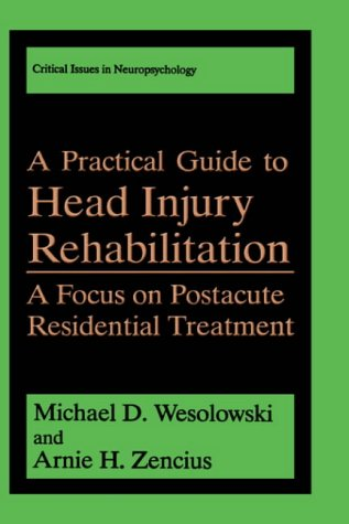 A Practical Guide to Head Injury Rehabilitation: A Focus on Postacute Residential Treatment 9780306444272