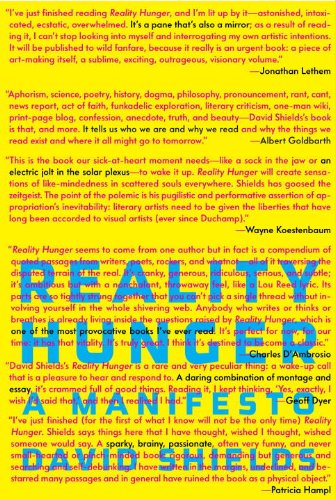 Reality Hunger: A Manifesto 9780307273536