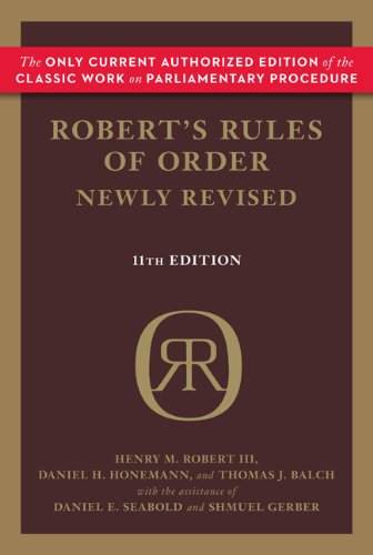 Robert's Rules of Order 9780306820205