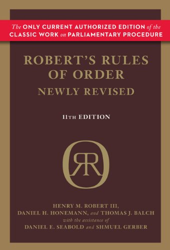 Robert's Rules of Order 9780306820212
