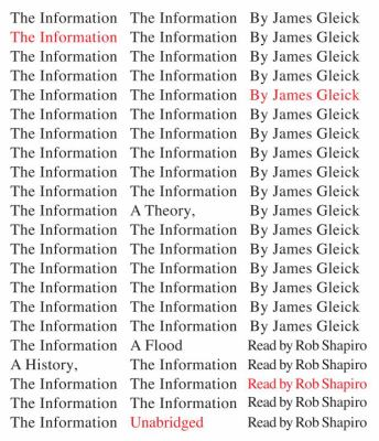 The Information: A History, a Theory, a Flood 9780307914965
