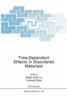 Time-Dependent Effects in Disordered Materials 9780306427824