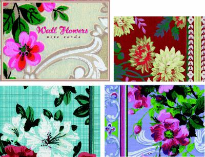 Wall Flowers Small Note Cards 9780307342140