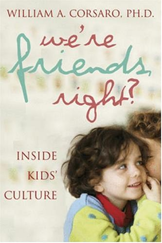 We're Friends, Right?: Inside Kids' Cultures 9780309087292