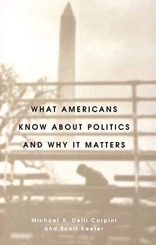 What Americans Know about Politics and Why It Matters 9780300072754