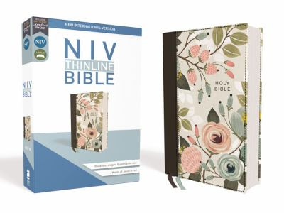 NIV, Thinline Bible, Cloth over Board, Floral, Red Letter Edition, Comfort Print