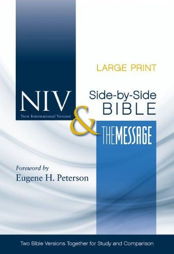 Side-By-Side Bible-PR-NIV/MS-Large Print: Two Bible Versions Together for Study and Comparison 9780310436850