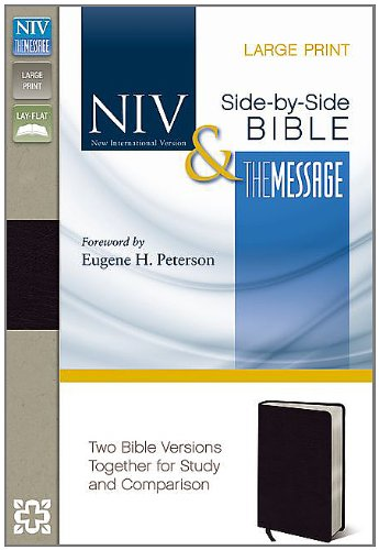 Side-By-Side Bible-PR-NIV/MS-Large Print: Two Bible Versions Together for Study and Comparison 9780310436867