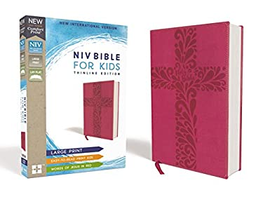 NIV Bible for Kids, Large Print, Leathersoft, Pink, Red Letter Edition, Comfort Print: Thinline Edition