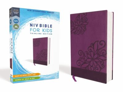 NIV Bible for Kids, Leathersoft, Purple, Red Letter Edition, Comfort Print: Thinline Edition