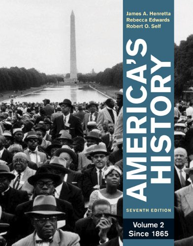 America's History, Volume 2: Since 1865 9780312387921