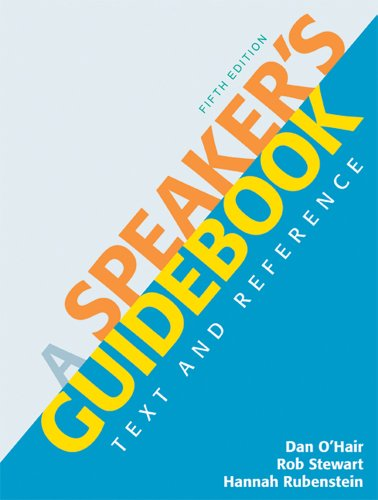 A Speaker's Guidebook: Text and Reference 9780312642860