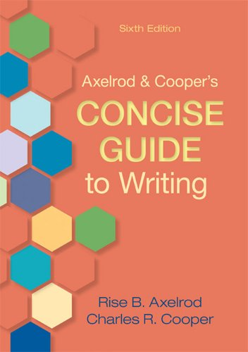 Axelrod & Cooper's Concise Guide to Writing 9780312668907
