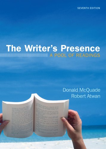 The Writer's Presence: A Pool of Readings 9780312672621