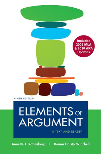 Elements of Argument: A Text and Reader 9780312692148
