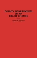 County Governments in an Era of Change 9780313278242