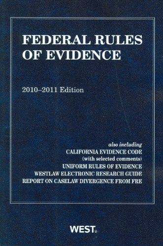Federal Rules of Evidence 9780314262080