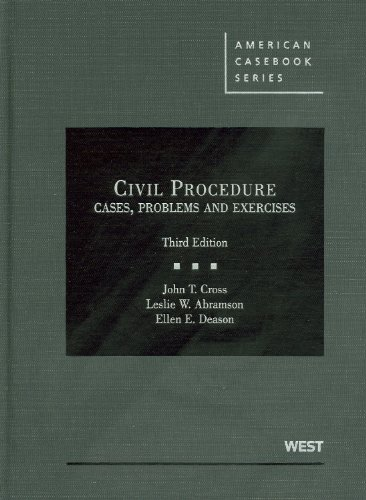 Civil Procedure: Cases, Problems and Exercises 9780314266675