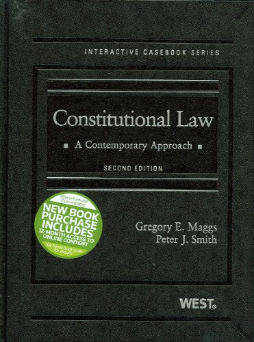 Constitutional Law: A Contemporary Approach 9780314273550