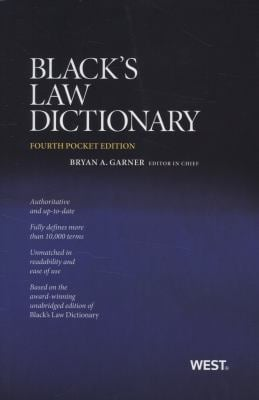 Black's Law Dictionary 9780314275448