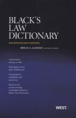 Black's Law Dictionary - 4th Edition