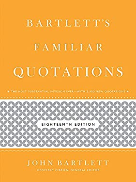 Bartlett's Familiar Quotations 9780316017596