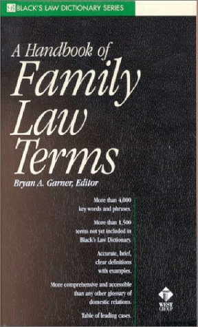 A Handbook of Family Law Terms 9780314249067