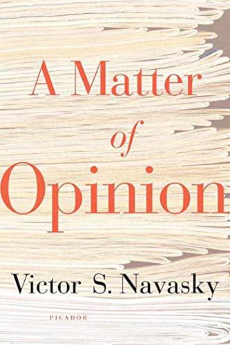 A Matter of Opinion: 9780312425548
