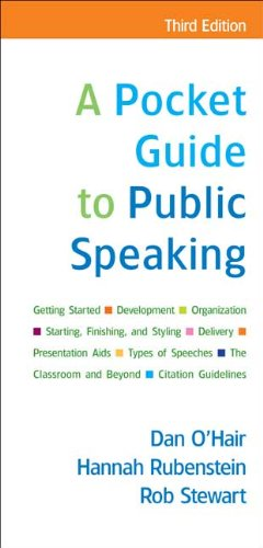 A Pocket Guide to Public Speaking 9780312554040
