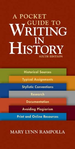 A Pocket Guide to Writing in History - 6th Edition
