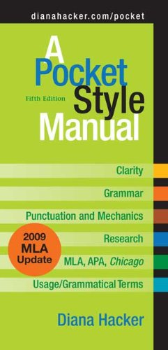 A Pocket Style Manual 9780312593247