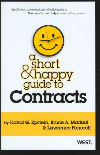 A Short and Happy Guide to Contracts 9780314277930