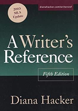 A Writer's Reference: With 2003 MLA Update 9780312412623