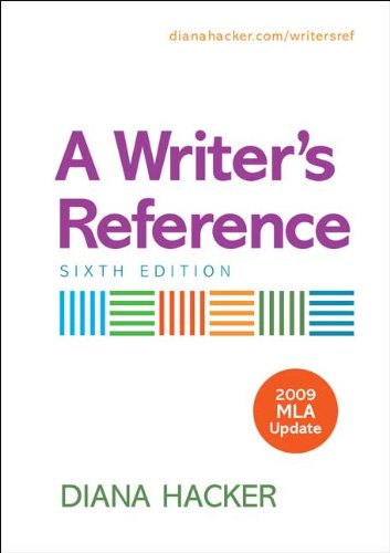A Writers Reference 6e 09 MLA Upd 9780312593322