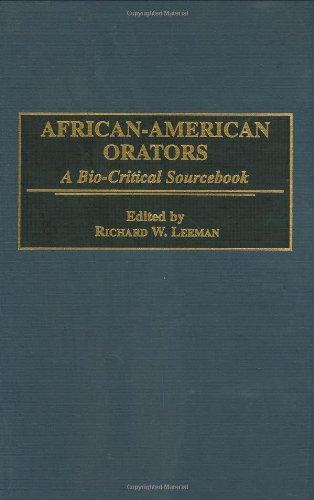 African-American Orators: A Bio-Critical Sourcebook 9780313290145