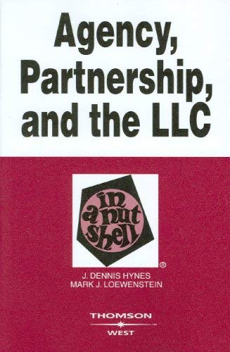 Agency, Partnership, and the LLC in a Nutshell 9780314180209
