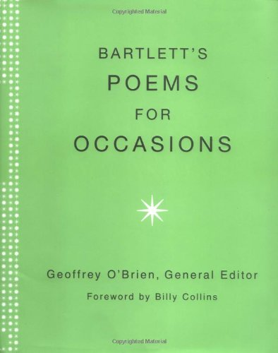 Bartlett's Poems for Occasions 9780316735018