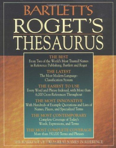 Bartlett's Roget's Thesaurus 9780316101387