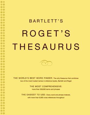 Bartlett's Roget's Thesaurus 9780316735872