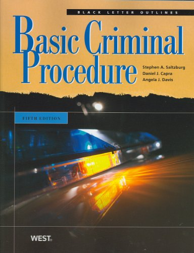 Basic Criminal Procedure 9780314190321