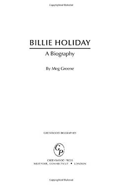 Billie Holiday: A Biography 9780313336294