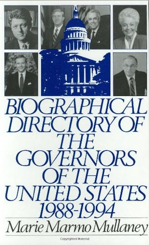 Biographical Directory of the Governors of the United States 1988-1994 9780313283123