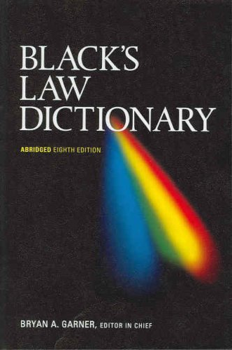 Black's Law Dictionary, Abridged, 8th 9780314158635