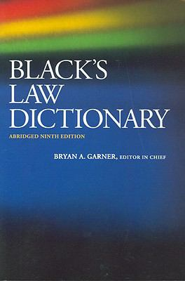 Black's Law Dictionary 9780314265784