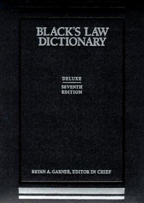Black's Law Dictionary Deluxe Thumb Cut Edition 9780314241306